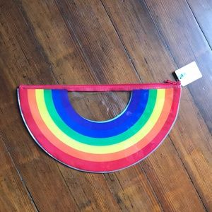 NWT Waterproof rainbow pouch